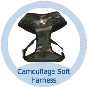 Soft Cotton Canvas Camouflage Dog Harness
